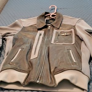 Jacket fighter pilot leather